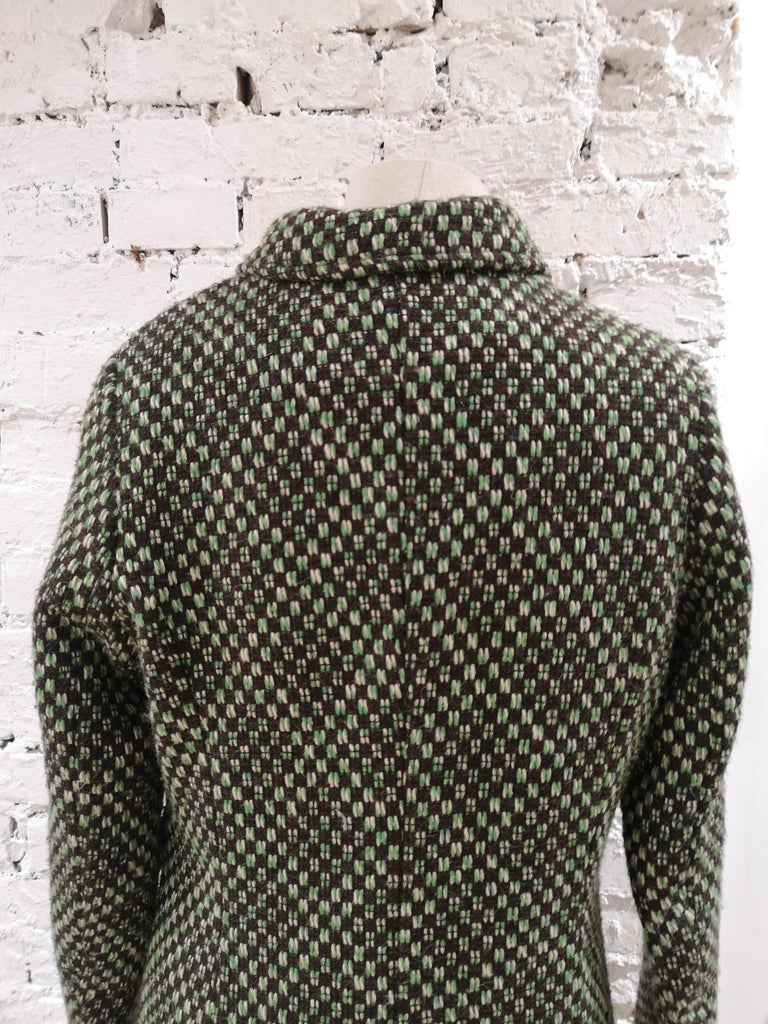 King Louie green wool coat In Excellent Condition For Sale In Capri, IT