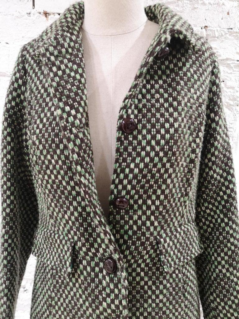 Women's King Louie green wool coat For Sale