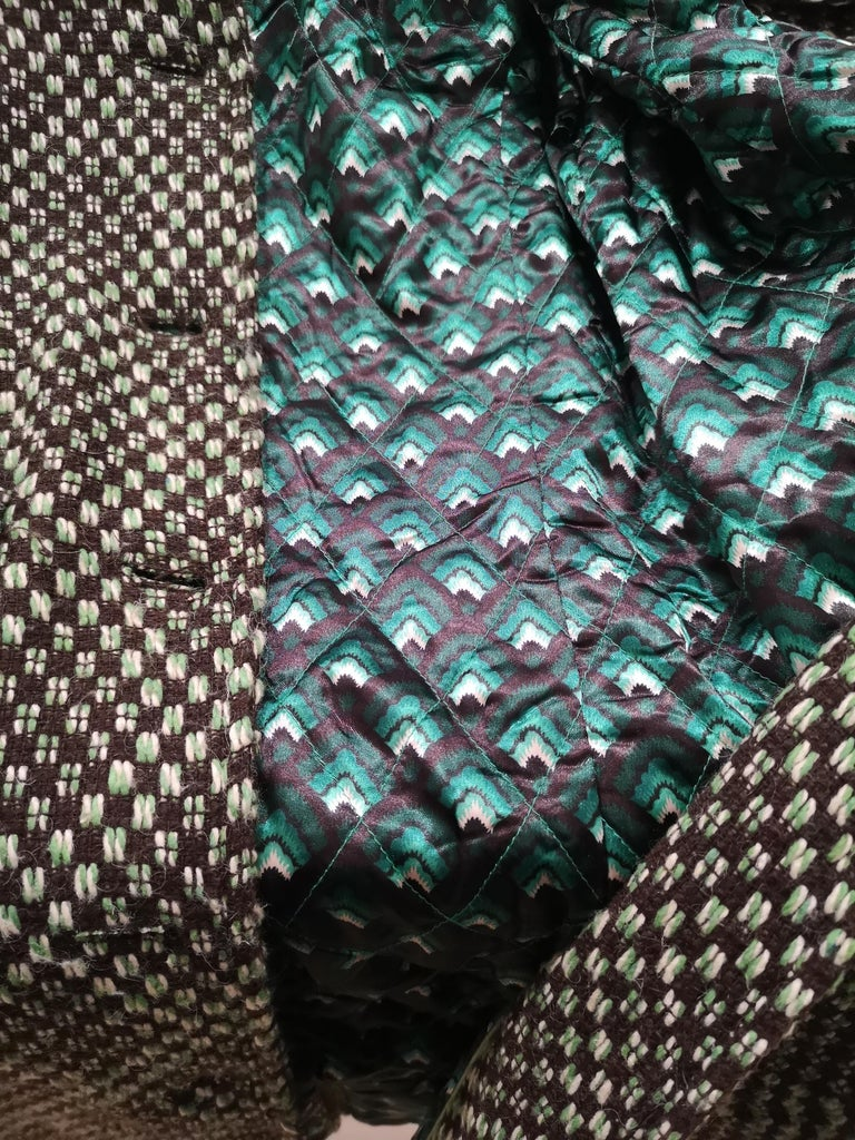 King Louie green wool coat For Sale 1
