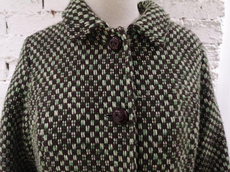 King Louie green wool coat For Sale 2