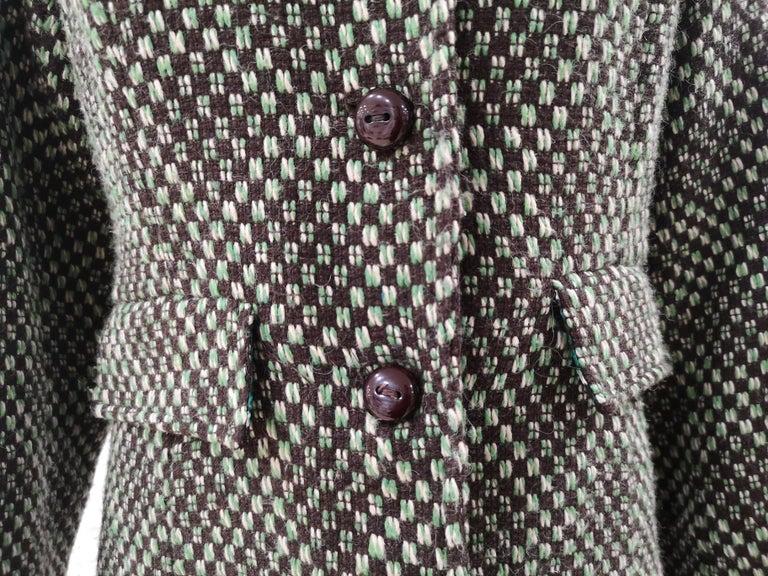 King Louie green wool coat For Sale 3
