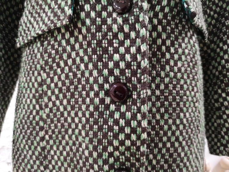 King Louie green wool coat For Sale 4