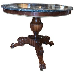 King Louis Philippe Period Marble-Top Center hall entrance Table Gueridon  19th