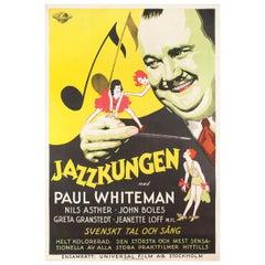 'King of Jazz' 1930 Swedish B1 Film Poster