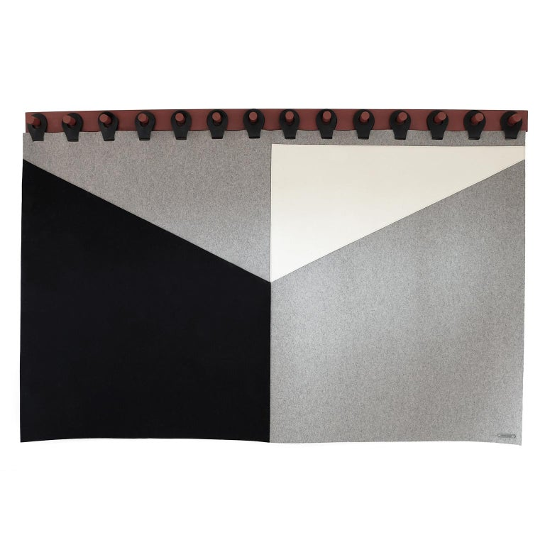 King Range Wall Tapestry Headboard by Moses Nadel in black, cream and grey  1