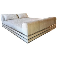 King Size Bed in Style of Brueton's Radiator Bed