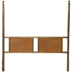 King-Size Bronze Two Poster Headboard with Caned Panels