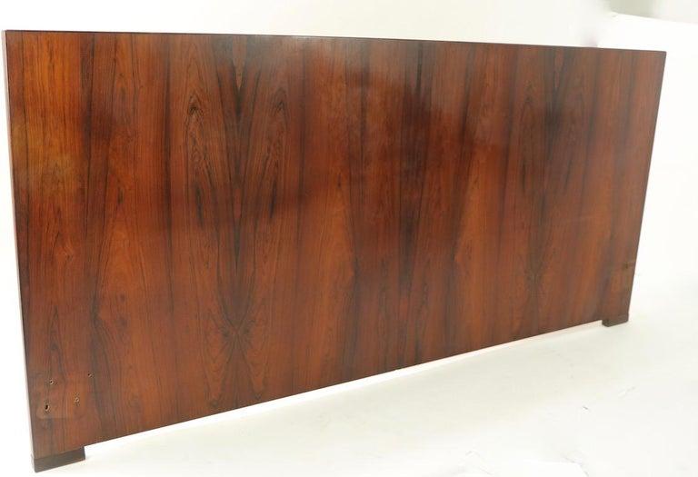 Scandinavian Modern King Size Headboard by Dyrlund in Rosewood For Sale