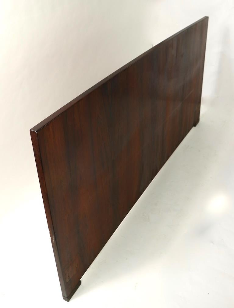Danish King Size Headboard by Dyrlund in Rosewood For Sale