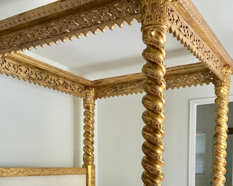 Carved King Size Italian Bed For Sale