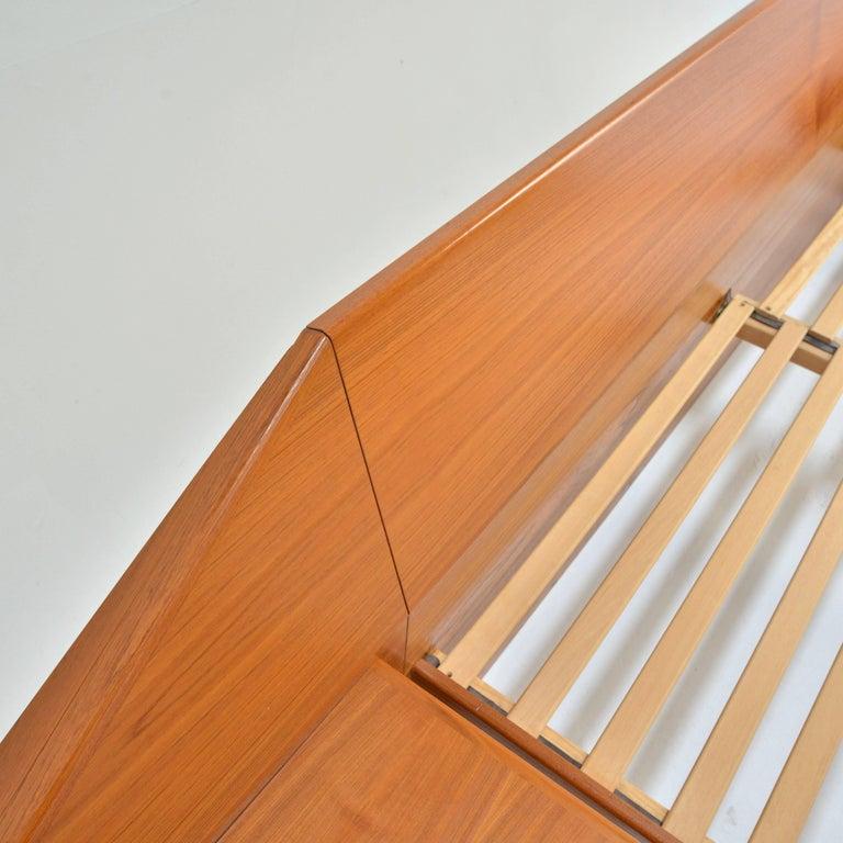 King Size Platform Bed by Danish Modernist Laurits M Larsen For Sale 5