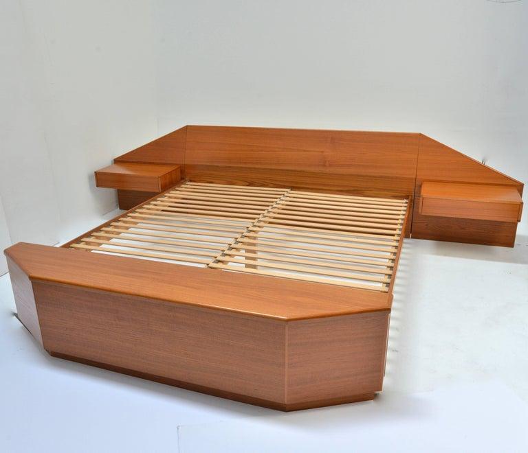 King Size Platform Bed by Danish Modernist Laurits M Larsen For Sale 1