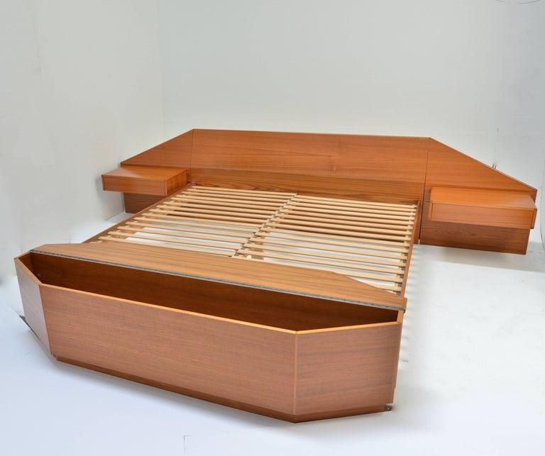 King Size Platform Bed by Danish Modernist Laurits M Larsen For Sale 2