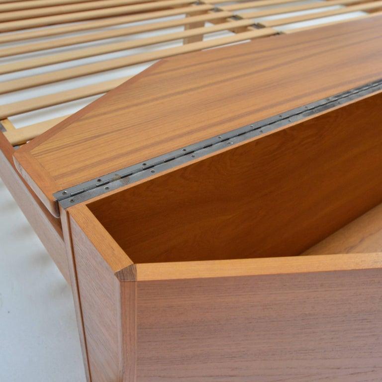 King Size Platform Bed by Danish Modernist Laurits M Larsen For Sale 3