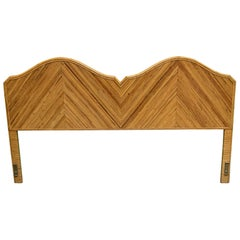King Size Split Reed Rattan Headboard