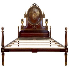 King Sized Mahogany and Gilded Bed