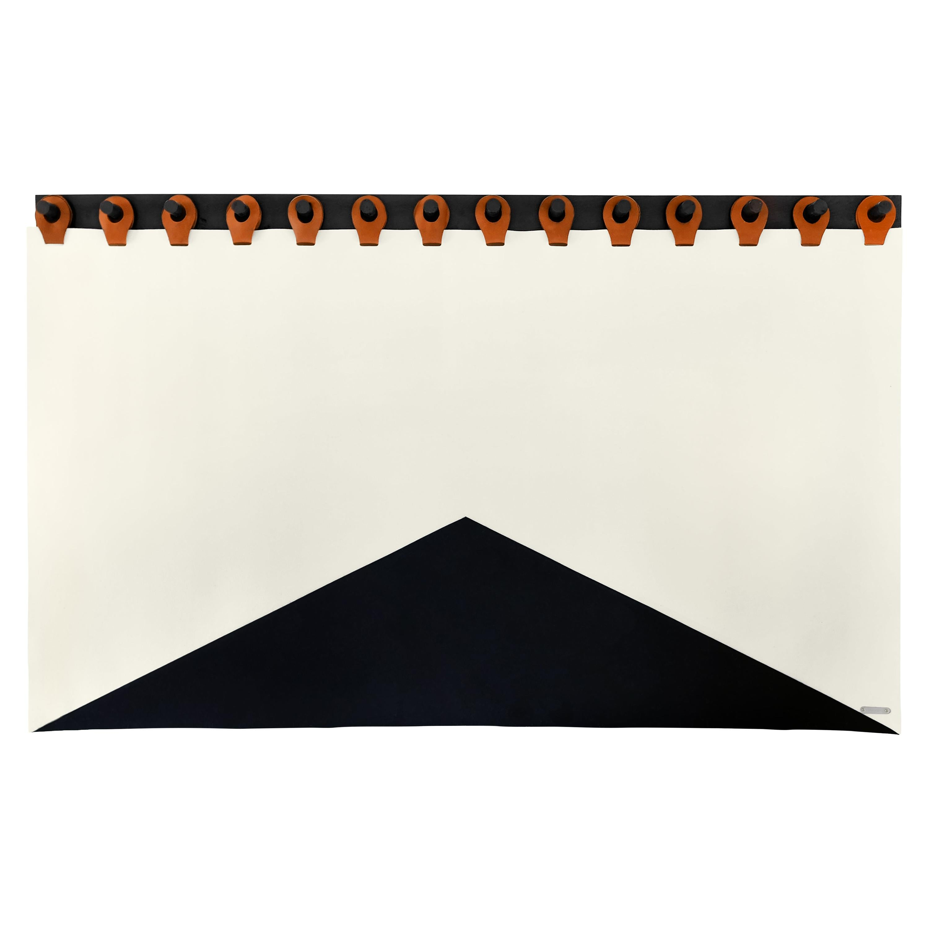 """Summit Headboard Tapestry 84"""" in Black, Cream and Saddle by Moses Nadel"""