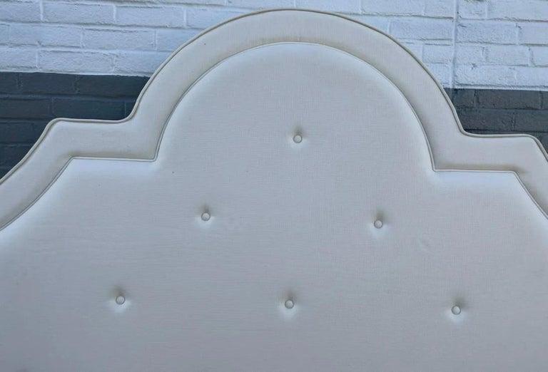 Hollywood Regency King Tufted Upholstered Headboard For Sale
