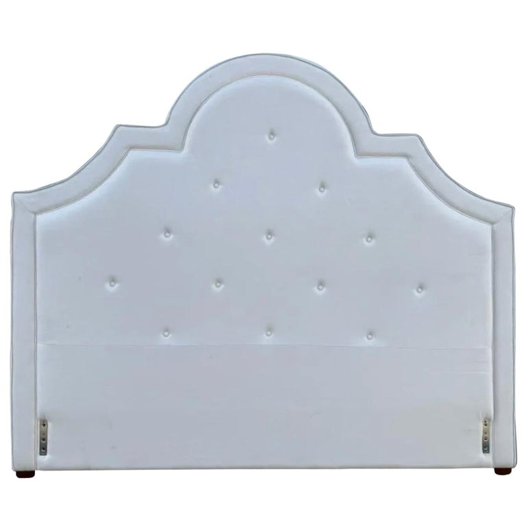 King Tufted Upholstered Headboard For Sale
