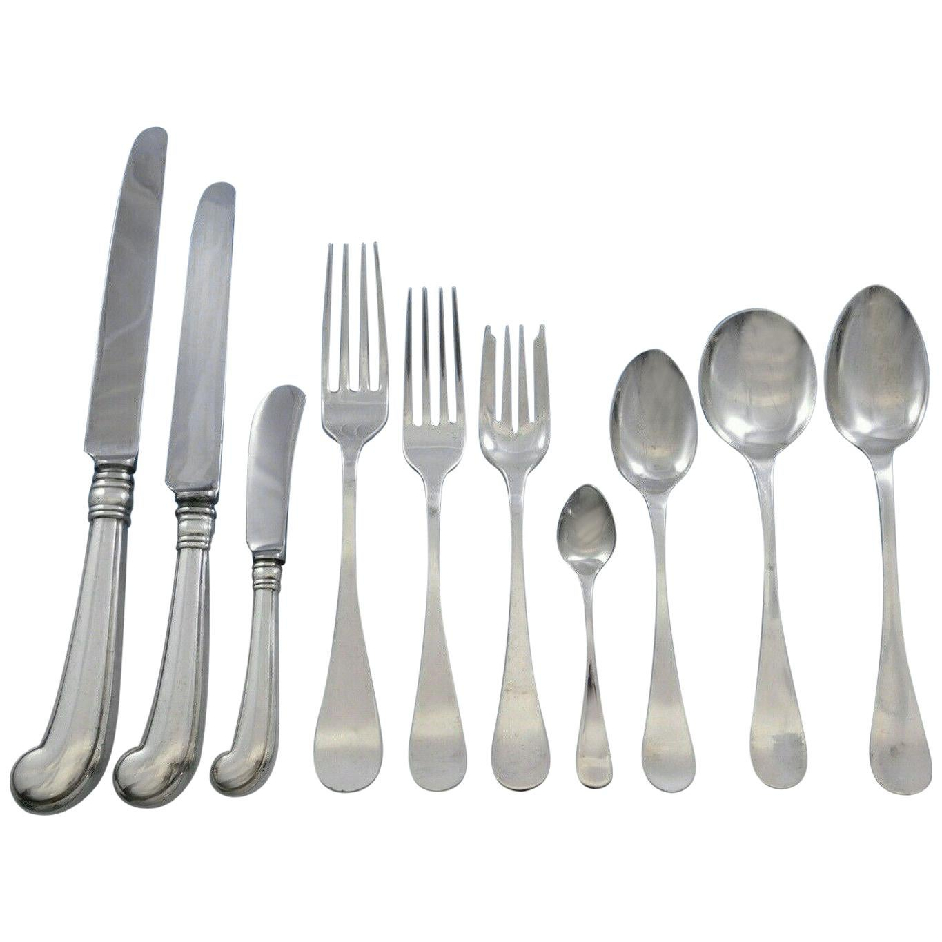 King William by Tiffany & Co Sterling Silver Flatware Set for 8 Dinner 84 Pieces