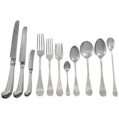 King William, Tiffany & Co. Sterling Silver Flatware Set for 8 Dinner 92 Pieces