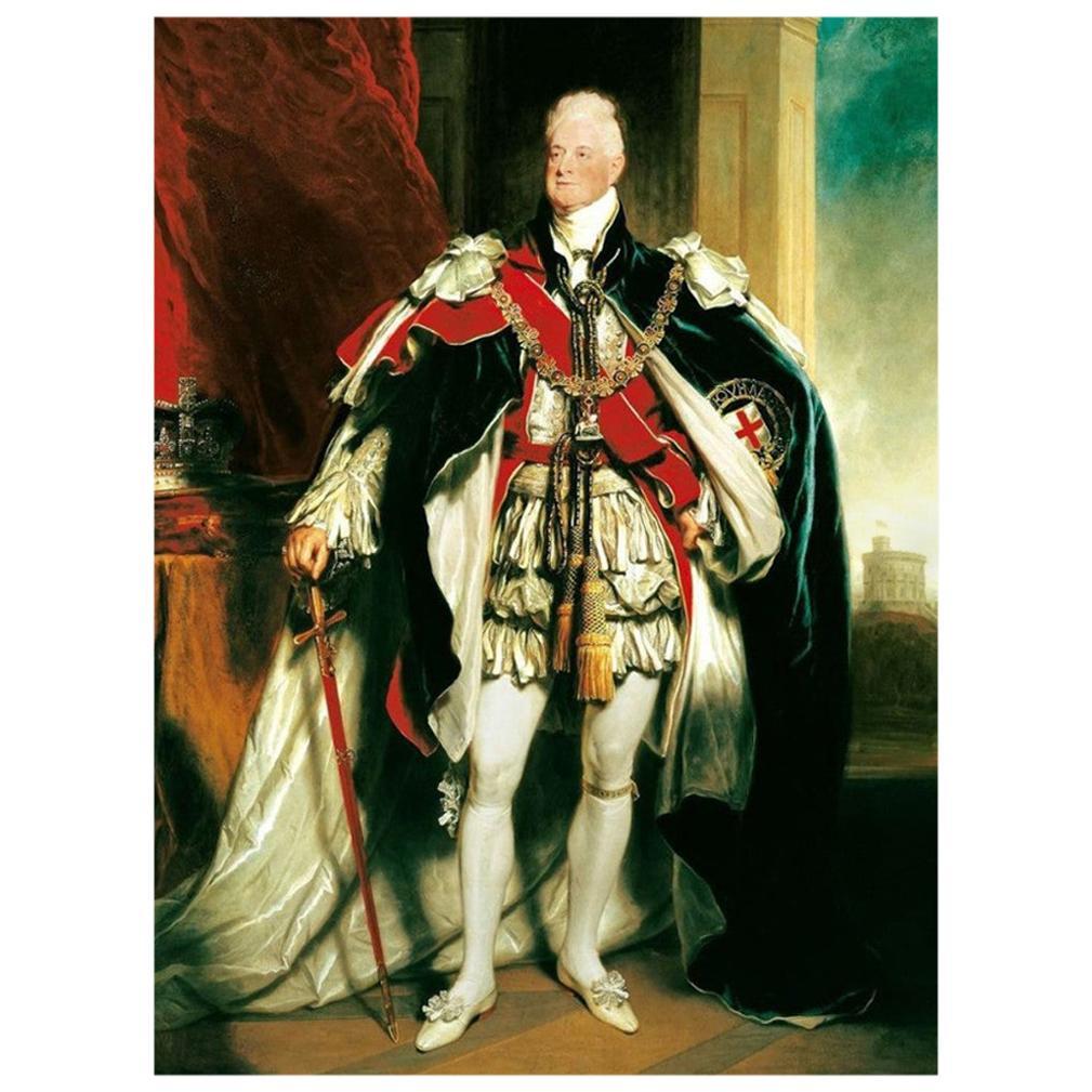 King William IV Authentic Antique Strand of Hair, 19th Century