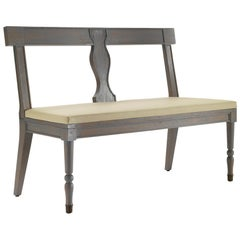 Kings Dining Bench in Leather Thema