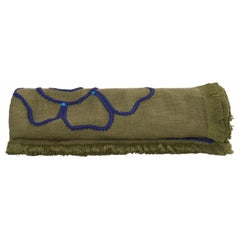 Kingsmead Hand Embroidered Green Throw Blanket