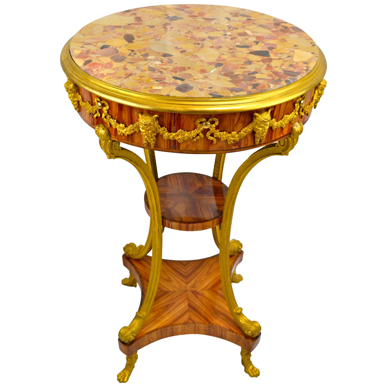 Kingwood and Gilt Bronze Gueridon Table