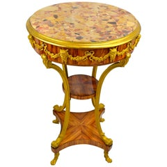 Kingwood and Gilt Bronze Gueridon Table