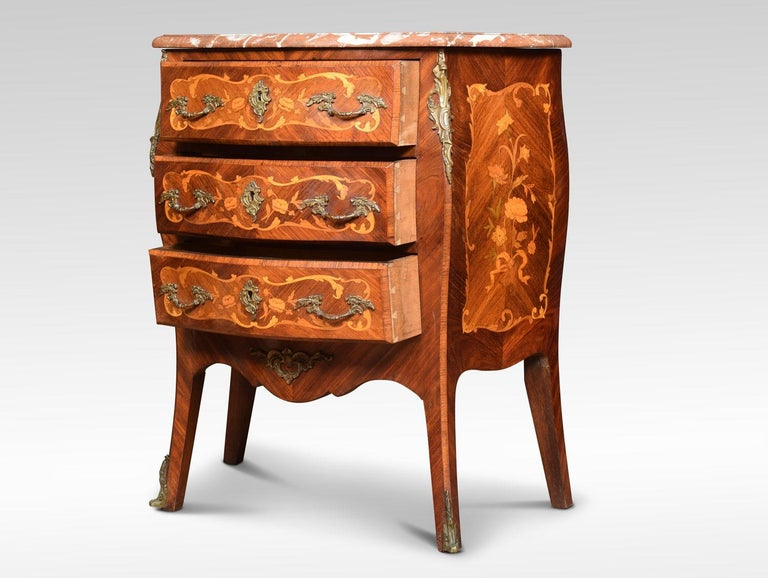 French Kingwood and Marquetry Commode For Sale