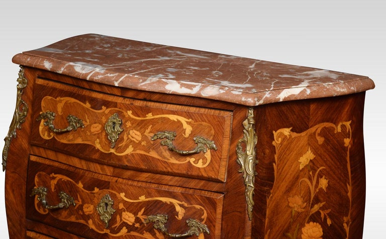 Kingwood and Marquetry Commode In Excellent Condition For Sale In Cheshire, GB
