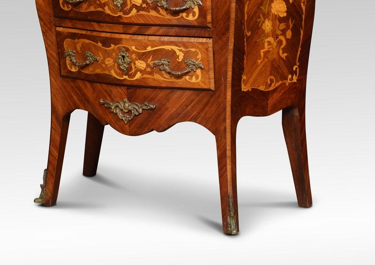 19th Century Kingwood and Marquetry Commode For Sale