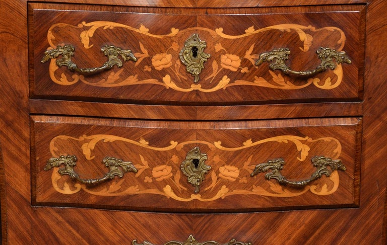 Kingwood and Marquetry Commode For Sale 2