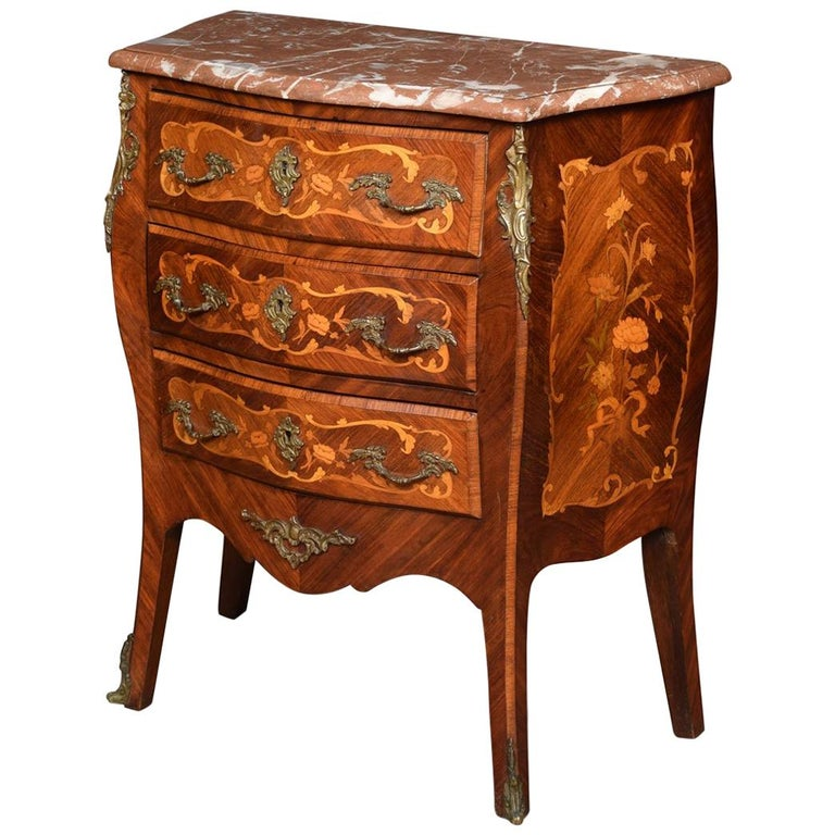 Kingwood and Marquetry Commode For Sale