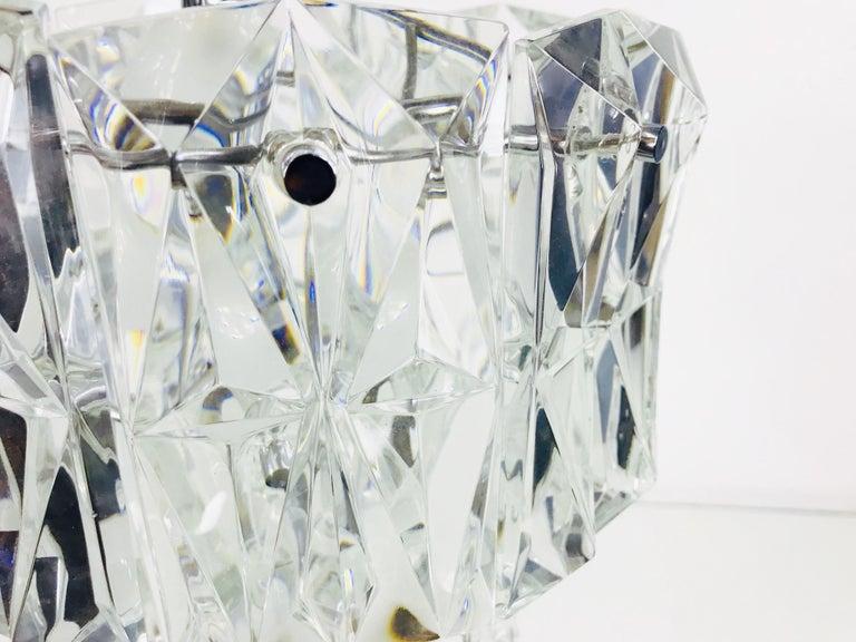 Kinkeldey Crystal Ice Glass Chandelier, circa 1960s For Sale 3