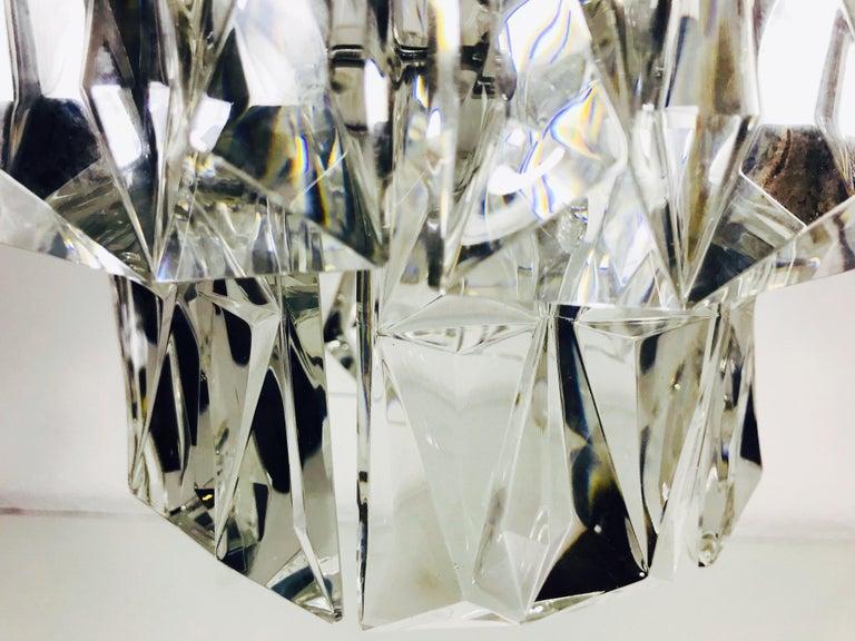 Kinkeldey Crystal Ice Glass Chandelier, circa 1960s For Sale 2