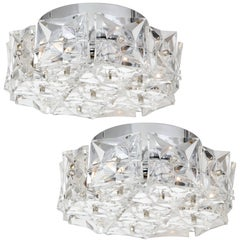 Kinkeldey Crystal Prism Flush Mount, 1 of 2