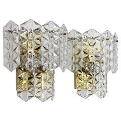 Kinkeldey Crystal Wall Sconces, Pair