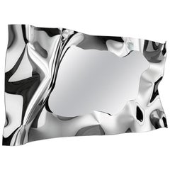 Kinky Rectangular Mirror in Fused Mirror Glass