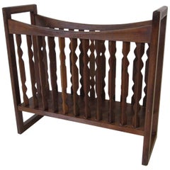 Kip Stewart Walnut Magazine Rack for Drexel