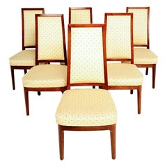 1950s Walnut Dining Chairs by Kipp Stewart for Cal-Mode Furniture - set of 6