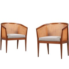 Kipp Stewart Caned Armchairs for Directional