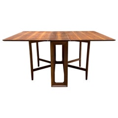 Kipp Stewart Drexel Declaration Walnut Drop Leaf Dining Table