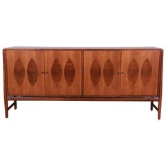 Kipp Stewart for Calvin Furniture Walnut and Rosewood Sideboard Credenza