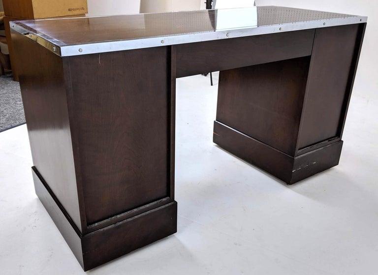 Kipp Stewart for Directional Special Order Campaign Desk, 6400-B For Sale 4