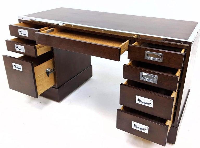 Kipp Stewart for Directional Special Order Campaign Desk, 6400-B For Sale 6