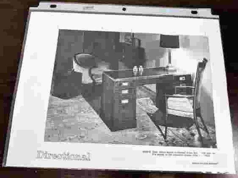 Kipp Stewart for Directional Special Order Campaign Desk, 6400-B For Sale 8