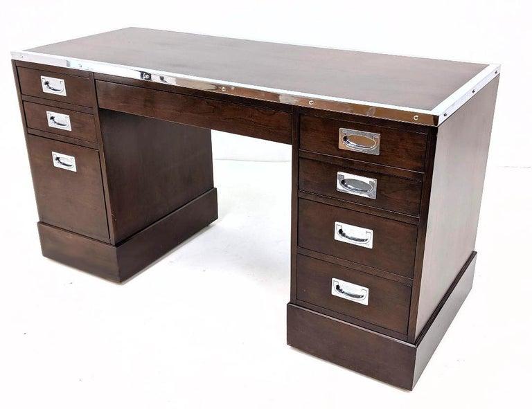 Kipp Stewart for Directional Special Order Campaign Desk, 6400-B For Sale 1