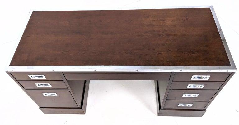 Kipp Stewart for Directional Special Order Campaign Desk, 6400-B For Sale 2